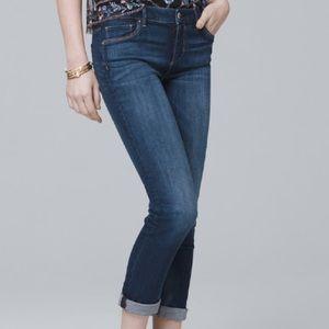 White House Black Market Embellished Crop Jeans